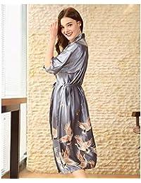Amazon.es: Ropa De Mujer Tallas Grandes - Batas y kimonos / Ropa de dormir: Ropa