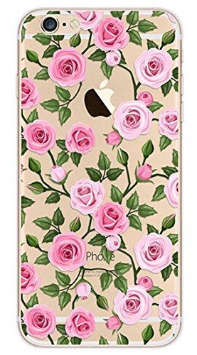 iPhone SE Silicone Coque,iPhone SE Coque Transparente,iPhone SE Coque Antichoc,iPhone SE Coque Bumper,iPhone 5S Silicone Coque Ange Housse Transparent Etui Gel Slim Case Soft Gel Cover pour iPhone 5,E Flamingo 10