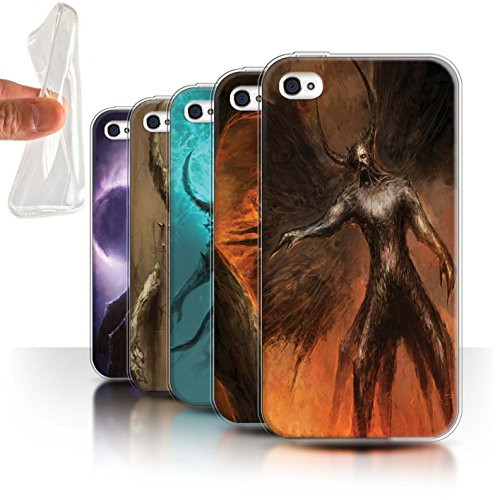 Offiziell Chris Cold Hülle / Gel TPU Case für Apple iPhone 4/4S / Pack 10pcs Muster / Dunkle Kunst Dämon Kollektion Pack 10pcs