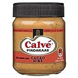 Calve Pindakaas Erdnussbutter mit zartbitter Kakaonibs 210g Beliebte Nussaufstrich aus Holland
