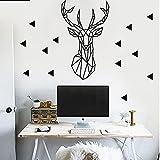 LangToo Die Geometrie der ersten nordischen Stil kleine Wohnzimmer Wanddekoration sauber PVC abnehmbare Kunst, Espresso, extra große