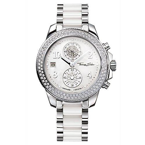 Thomas Sabo Women's Watch Glam Chrono Silver White Analogue Quartz