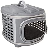 PET MAGASIN Hard Casing Cat Travel Carrier - Collapsible & Padded Transport Handbag with Mesh Doors for Optimum Ventilation for Cat, Puppy, Small Dogs (44.9 * 33 * 35.6 cm)