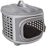 Pet Magasin Transporteur d'animal de compagnie à couverture rigide pliable - Chenil de voyage portable pour chats avec toit et plancher en tissu