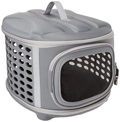 Pet Magasin Bolsa de transporte de mascotas plegable y portátil con tapa dura - Transportín de tela resistente y ligera para viajes con techo y suelo rígidos, para gatos, perros pequeños y cachorros
