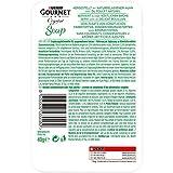 Gourmet PURINA Soup Classic mit Streifen naturbelassenen Huhns und Feinem Gemüse in Einer Raffinierten Brühe, 32er Pack (32 x 40 g)