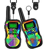 Kids Bay Kids Bay Walkie Talkie Kinder Spielzeuge Funkgeräte 8 Kanäle 4KM Reichweite Eingebaute Taschenlampe 2 Schlüsselbänder Wasserdicht Geschenk für Jungen/ Mädchen , 2 Stück Tarnung