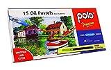 Polo Kinder 15 Öl Pastell Sortiert Farbe für Kunst Buntstifte mit Scratcher - Packung von 1