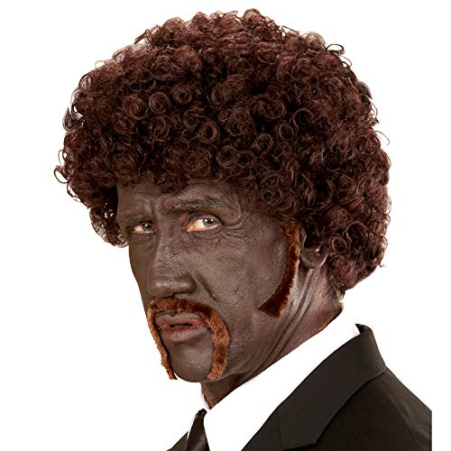 Party Pulp Fiction Kostüm - Widmann 01841 - Perücke Pulp Afro braun