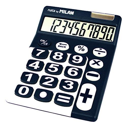 Milan 150610BBL Tischrechner, 10-stellig, blau /weiß