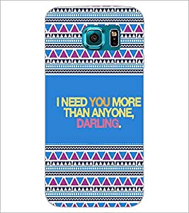 PrintDhaba Quote D-4667 Back Case Cover for SAMSUNG GALAXY S6 (Multi-Coloured)