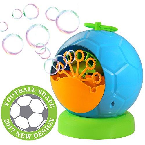 Seifenblasenmaschine,Geekper Bubble machine Seifenblasen Maschine für Kinder die Verwendung draußen oder drinnen Spaß (Blau)