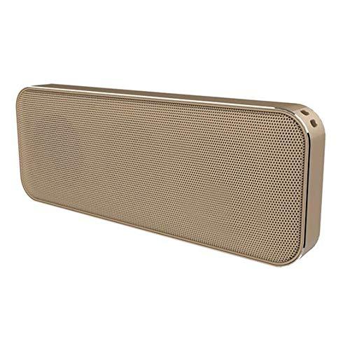 Altavoz Bluetooth inalámbrico Cuadrado Doble Cuerno Mini Bolsillo Metal portátil Ultrafino Delicado...