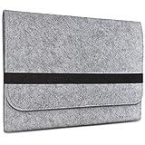 eFabrik Filz Tasche für Apple iPad 9.7 2018 Hülle (auch geeignet für Ipad Pro 2017) Sleeve Schutz, Farbe:Grau