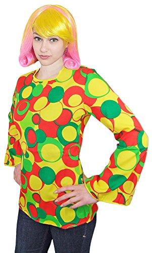 46 Kostüm Girl Clown - Hippie Shirt Daffy Damen Gr. 44 46