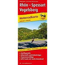 Rhön - Spessart - Vogelsberg: Motorradkarte mit Tourenvorschlägen, GPS-Tracks zum Gratis-Download, Ausflugszielen, Einkehr- & Freizeittipps. GPS-genau. 1:200000 (Motorradkarte/MK)