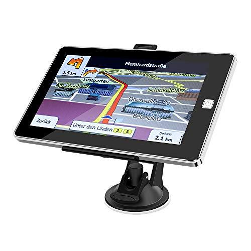 ODLICNO Auto Navigation GPS Navi Navigationsgerät 7 Zoll Touchscreen mit Lebenslangen Kostenlosen Kartenupdates 52 EU-Landkarten 2019 für Auto LKW PKW KFZ Taxi Wohnmobil (Mehrsprachig)