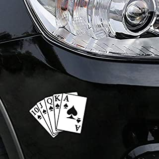 Playing Cards the Ace of Spades Window Car Sticker Vinyl Decal 15.6CM X 11.4CM