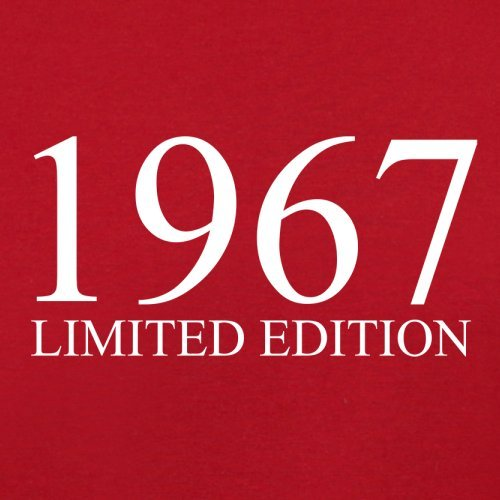 1967 Limierte Auflage/Limited Edition - 51. Geburtstag - Herren T-Shirt - 13 Farben Rot