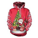 Soupliebe Damen Frohe Weihnachten Plus Size Pullover Deer Elk Printed Skew Neck Sweatshirt Kapuzen Langarmshirt Sweatjacke Kapuzenpullover Hoodie
