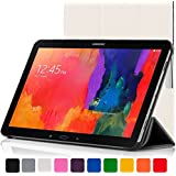 ForeFront Cases® New Leather Folding Case Cover for Samsung Galaxy Tab PRO 10.1 T520 (Released March 2014) - Full device protection and Smart Auto Sleep Wake function with 3 YEAR FOREFRONT CASES WARRANTY