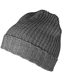 VB Bonnet - pour homme, molle, chaud - bordure côtelée à revers à la base