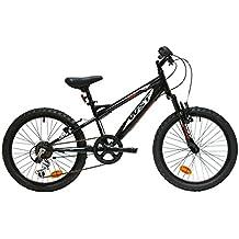 """WST BTT Sniper Bicicleta Montaña, Niños, Negro/Blanco/Rojo, 20"""""""