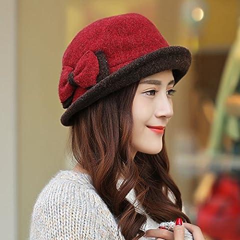 Moda uncinetto maglia lana donna Cappellino invernale per i regali