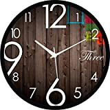#1: Regent Round Wall Clock With Glass For Home / Bedroom / Living Room / Kitchen
