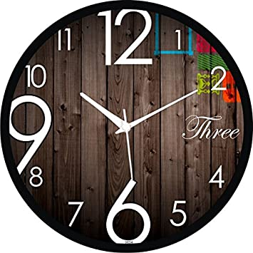 Buy Regent Round Wall Clock With Glass For Home Bedroom Living