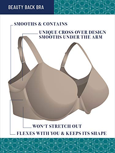 Vanity Fair Damen Beauty Full Figure Underwire Extended Side and Back Smoother Bra 76267 BH, Star White, 85D - 4