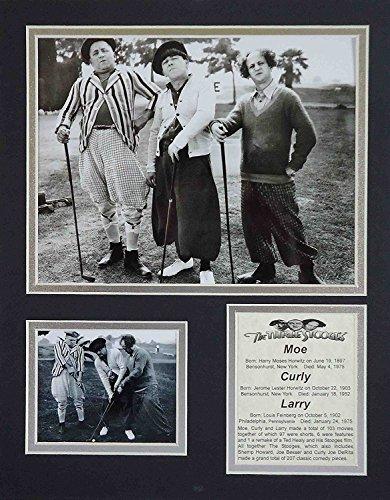Die Drei Stooges-Golf B & W 27,9x 35,6cm ungerahmt mattierte Foto Collage von Legenden Sterben Nie, Inc. (Stooges Golf Three)