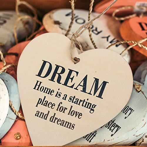 Wooden Hearts - 10 x 10 cm Bulk Unfinished Wooden Heart Shaped Embellishments with Holes for DIY Crafting, Love Tags, Scrap booking, Personalised Gifts, Wedding Decor with 10 m Natural Twine (25 pack)