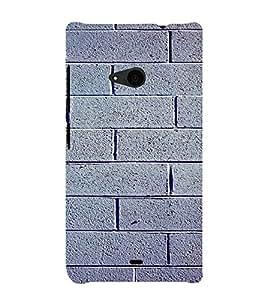 PrintVisa Stone Wall Design 3D Hard Polycarbonate Designer Back Case Cover for Nokia Lumia 535
