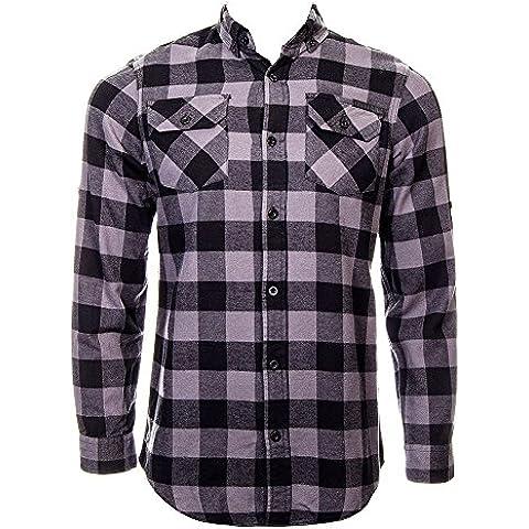 Camisa de manga larga de cuadros Jack Checker de Criminal Damage (Negro/Gris)