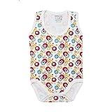 Skills Round-Neck Patterned Sleeveless Bodysuit for Kids - Multi Color, 6-9 Months
