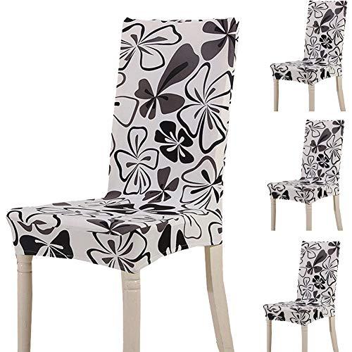 Teerfu coprisedia, 4 pezzi,protezione elasticizzata rimovibile in spandex per sedie da pranzo, ultra aderente, per banchetti, hotel e cerimonie nuziali, lavabile color 16