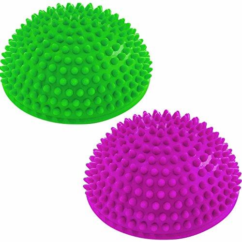 #DoYourFitness 2er-Set Balance-Kugel »Igel« zur Steigerung der Balance/Koordination. Ideal für Balance-Training 320g zirka 8cm hoch und 16cm Durchmesser in magenta/grün