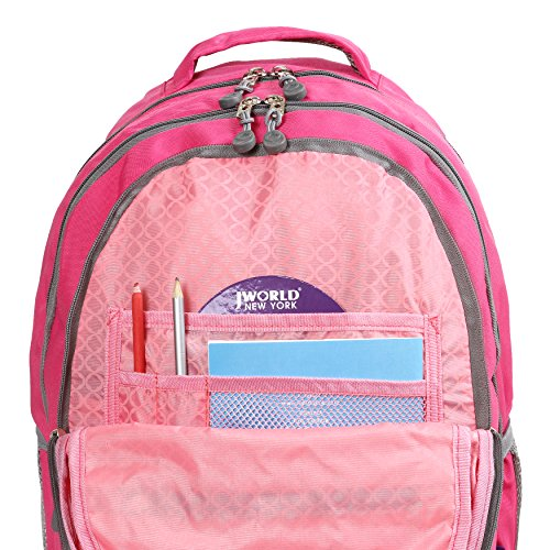 J World New York Campus Cornelia Zaino Casual, 48 cm, 30,5 litri, Navy Pink
