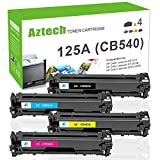 Aztech 4 Pack Kompatibel für HP CB540A CB540A-CB543A 125A für HP Color Laserjet CP1215 Gelb CP 1515 CP1515N CP1518NI Toner CM1312 MFP CM1312NFI MFP cm 1312 CP 1217