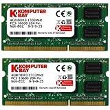 Komputerbay 8GB (2X4GB) DDR3 SODIMM (204 pin) 1333Mhz PC3-10600 (9-9-9-25) Laptop Notebook Speicher für Apple iMac