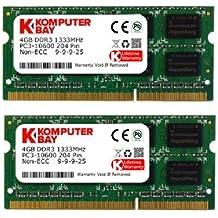 Komputerbay - Memoria RAM para portátiles, 8GB (2 x 4GB), DDR3, SODIMM (204 pines), 1333Mhz, PC3-10600 (9-9-9-25), para Apple iMac