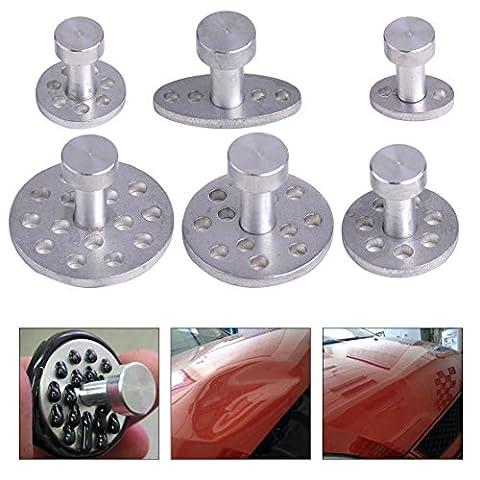 beler Auto Aluminium PDR Kleber Puller Tabs K?rper Paintless Dent Reparatur Removal Werkzeuge - 6 Gr??e