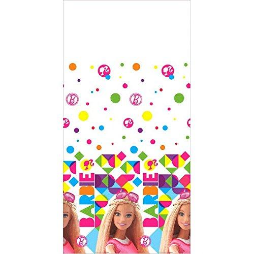 (Barbie(TM) Sparkle Plastic Table Cover Birthday Party Tableware Decoration (1 Piece), Multi Color, 54