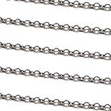 WFC Jewellery Sterling Silver Oval Belcher Chain - 2 mm