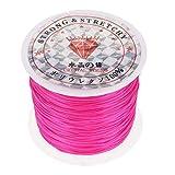 HuntGold Elastisch Perlen Faden Schnur Seil Halskette Kette Armbänder Kristall Schnur Gurt Pink