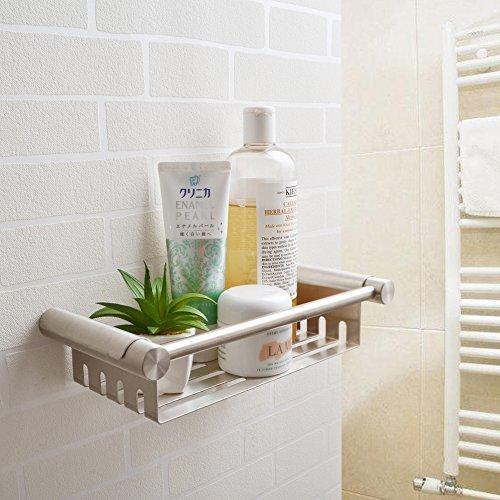 Kes sus 304 inox acciaio mensole per doccia bagno cestino archiviazione mensola appeso organizzatore inossidabile montaggio a parete spazzolato finire, bsc203s27-2