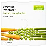 WAITROSE Verduras Francés En Agua Esencial 4 x 200g