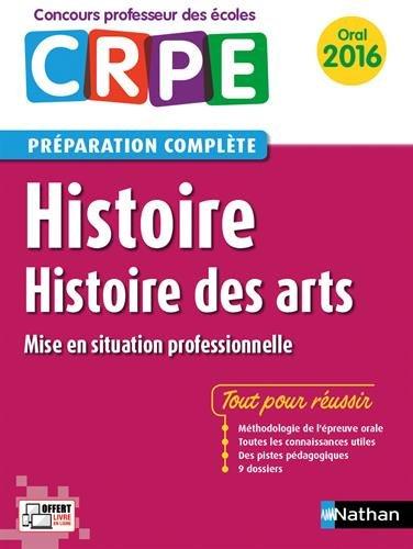 Histoire - Histoire des arts - Préparation à l'épreuve orale