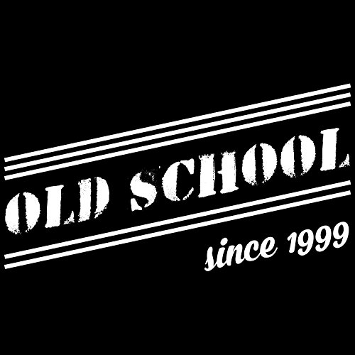 Fashionalarm Herren T-Shirt - Old School Since 1999 | Fun Shirt mit coolem Motiv als Geschenk Idee zum 18. Geburtstag Jubiläum Volljährig Erwachsen Schwarz